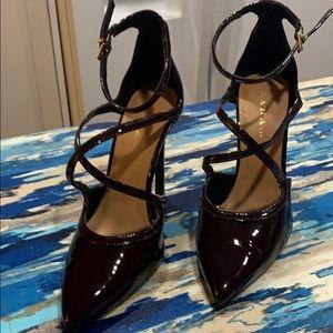 Zara dark plum colored high heeled size 38/8